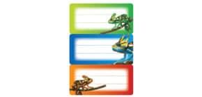 Schuletikette Gecko Produktbild