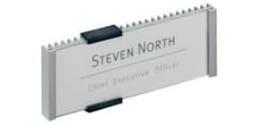 Targhe DURABLE INFO SIGN alluminio/acrilico trasparente/argento metallizzato 149x52,5 mm - 480023 Immagine del prodotto