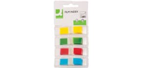 Segnapagina Q-Connect neon 12x43 mm 4 colori trasparenti blister 4 blocchetti da 35 - KF03631 Immagine del prodotto