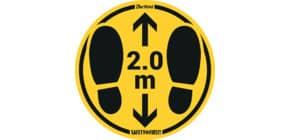 Bodenaufkleber DM 35cm gelb-schwarz 2,0m 2 St. für raue Böden TARIFOLD T197856 Produktbild