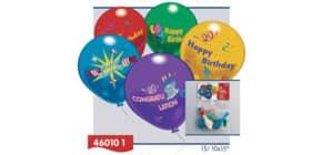 Luftballon 10er Happy Birthday EVERTS 46010 sort. Produktbild