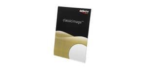 Porta-avvisi deflecto® A5 verticale in polistirene con base a L trasparente 47501 Immagine del prodotto