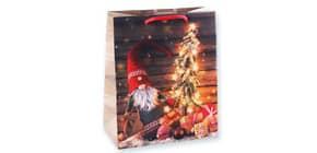 Weihn.Geschenktragetasche Wichtel 06-0365 23x19x10,5cm Produktbild