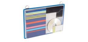 Prospekttasche A4quer blau Produktbild
