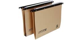Cartelle sospese orizzontali per cassetti CARTESIO ECO 39 cm fondo V avana Conf. 25 pezzi - 100/395-A1 Immagine del prodotto