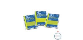 Ricambi rinforzati Blasetti in carta bianca usomano con 4 fori rinforzati in plastica 80 g/m² A4 B  conf.40 - 2337 Immagine del prodotto