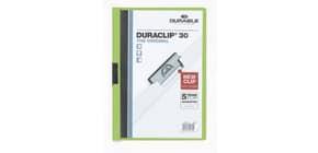 Clip-Mappe A4 Duraclip grün Produktbild