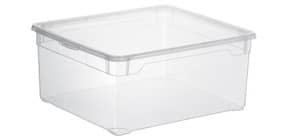 Contenitore Rotho Clear Box in PPL impilabile trasparente - 18 L 40x33,5x17 cm - F707805 Immagine del prodotto
