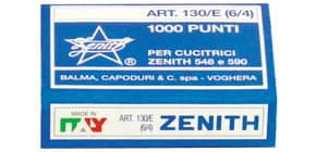 Punti metallici ZENITH 130/E 6/4  Conf. 1000 punti - 0311301401 Immagine del prodotto