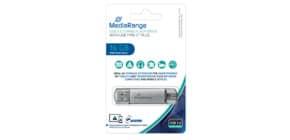 USB Stick 3.0 + TypeC 2in1 inkl URA 16GB Kombo MEDIARANGE MR935 Produktbild