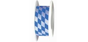 Zier Acetatband 40mmx25m Raute 8472040870025 weiß/blau Produktbild