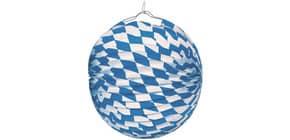Lampion m. Design weiss/blau 2103 Ballon Rauten D25cm Produktbild