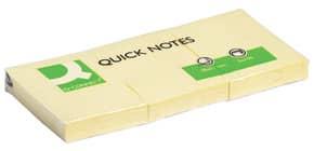 Foglietti riposizionabili Q-Connect 63 g/m² giallo 38x51 mm 12 blocchetti da 100 ff - KF10500 Immagine del prodotto