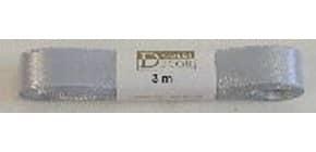 Doppelsatinband 15mmx3m silber 1172015051503 Produktbild