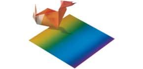 Faltblätter 100 Stück Regenbogen Produktbild
