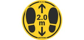 Bodenaufkleber DM 35cm gelb-schwarz 2,0m 2 St. für glatte Böden TARIFOLD T197857 Produktbild
