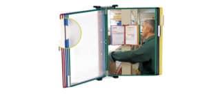 Leggio murale T-Technic Tarifold® con 10 buste in PVC A4 414109 Immagine del prodotto