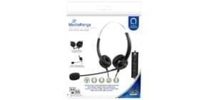 Cuffie stereo per PC Media Range con microfono e filo - USB - nero - MROS304 Immagine del prodotto