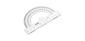 Winkelmesser 10 cm 180° glaskl Produktbild