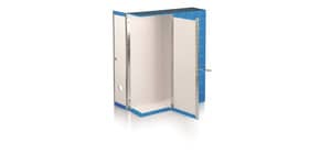 Scatola con cerniera in metallo Box 1 - apertura parziale Brefiocart 37,5x29,5 cm dorso da 9 cm blu - RESX101.BL Immagine del prodotto