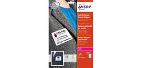 Badge adesivi in seta acetata AVERY 63,5x29,6mm 20 fogli - L4784-20 Immagine del prodotto