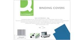 Copertina per rilegatura Q-Connect A4 250 g/m² blu goffrato Conf. 100 pezzi - KF00500 Immagine del prodotto