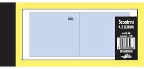 Scontrini numerati Semper a due sezioni - blocco di 100 copie numerate 5,8x13 cm blu - SE160000040 Immagine del prodotto
