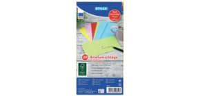 Briefhülle DL gummiert 5 Farben sortiert 110x220 TOPPOINT 40855 Produktbild