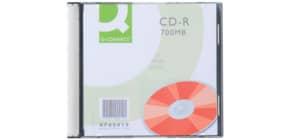 CD-R Q-Connect Slimline Jewel Case 700 MB 80 min 52X conf. da 10 pezzi - KF00419 Immagine del prodotto
