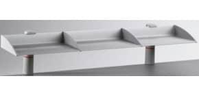 Ablageboard 1er lichtgrau 100cm NOVUS 750+0502+000 Produktbild