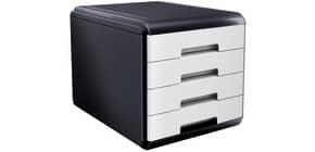 Cassettiera 4 cassetti ARDA Mydesk polistirolo e materiale infrangibile grigio/bianco - 18P4PB Immagine del prodotto