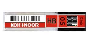 Astuccio mine per portamine KOH-I-NOOR 0,5mm - gradazione HB 12 mine - E205-HB Immagine del prodotto
