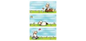 Schuletikette Schafe Produktbild