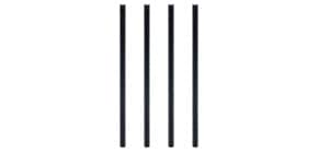 Trinkhalm Papier 100ST schwarz Produktbild