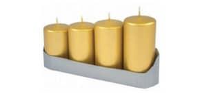 4 Advent-Stumpenkerzen ProduktbildSingle ImageM