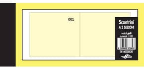 Scontrini numerati Semper a due sezioni - blocco di 100 copie numerate 5,8x13 cm giallo - SE160000030 Immagine del prodotto