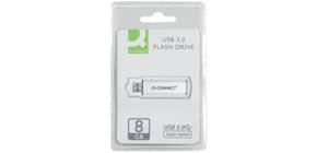 Chiavetta USB Q-Connect Super Speed 3.0 argento/nero 8 GB KF16368 Immagine del prodotto
