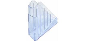 Portariviste ARDA Classic polistirolo antiurto azzurro trasparente 7,5x27x29,5 cm - TR4118BL Immagine del prodotto