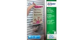 Tasche adesive Avery per fogli A4 trasparente 1 et./foglio Conf. 10 fogli - L7083-10 Immagine del prodotto