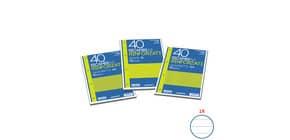 Ricambi rinforzati Blasetti in carta bianca usomano con 4 fori rinforzati in plastica 80 g/m² A4 1R - 2331 Immagine del prodotto