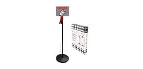 Kit eliminacode PRINTEX piantana base + asta-cartello istruzioni + dispenser + rotolo 2000 tickets bianchi - TR/PIA N K Immagine del prodotto
