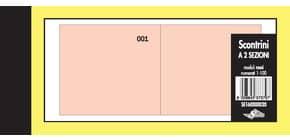 Scontrini numerati Semper a due sezioni - blocco di 100 copie numerate 5,8x13 cm rosso - SE160000020 Immagine del prodotto