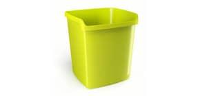 Cestino impilabile ARDA MyDesk 15 litri polipropilene verde rettangolare 8116V Immagine del prodotto