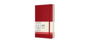 Agenda 2021 12 mesi giornaliera large 13x21 cm copertina rigida moleskine rosso - DHF212DC3Y Immagine del prodotto