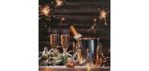 Neujahr Zelltuchserviette 33x33cm HOME F. 611713 Produktbild