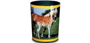 Papierkorb 13l Pferd u. Fohlen LÄUFER 26557 H.30cm Kunstst. Produktbild