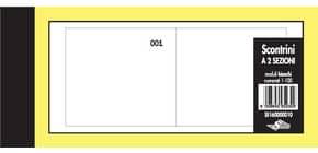 Scontrini numerati Semper a due sezioni - blocco di 100 copie numerate 5,8x13 cm bianco - SE160000010 Immagine del prodotto