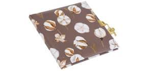 Tagebuch Elegant Cotton m.Schloss dark Produktbild