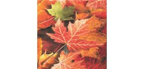 Motivserviette 33x33cm Herbst Blätter HOME F. 211308 Produktbild