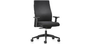 Drehstuhl mit Armlehnen schwarz weiche Rollen INTERSTUHL 10437537 139RS Produktbild